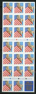 US SCOTT# 2920a FLAG ON PORCH COMPLETE UNEXPLODED BOOKLET OF 20 MNH AS SHOWN