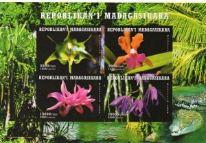 Madagascar 1999 ORCHIDS Sheet Imperforated Mint (NH)