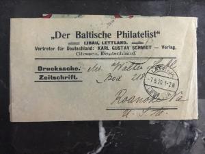 1920 Latvia Wrapper The Baltic Philatelist  cover  To Roanoke Va USA