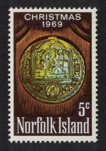 Norfolk Christmas 1v issue 1969 SG#102 SC#125