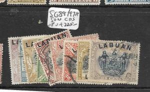 LABUAN (P2603B)  SG 89/97 SET VFU
