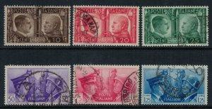 Italy #413-8  CV $23.65  Rome-Berlin Axis, Hitler & Mussolini