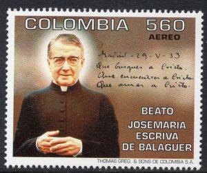 1016 - Colombia 1994 - Beatification of Josemaria Escriva de Balaguer - MNH Set