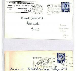 GB WALES REGIONAL Covers{2} Aberystwith Record SUNSHINE {samwells-covers}CR243
