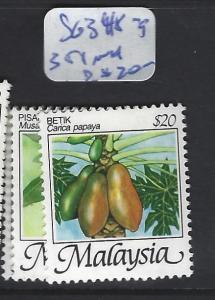 MALAYSIA   (P3007BB)   FRUIT SG 348-9,  351   MNH