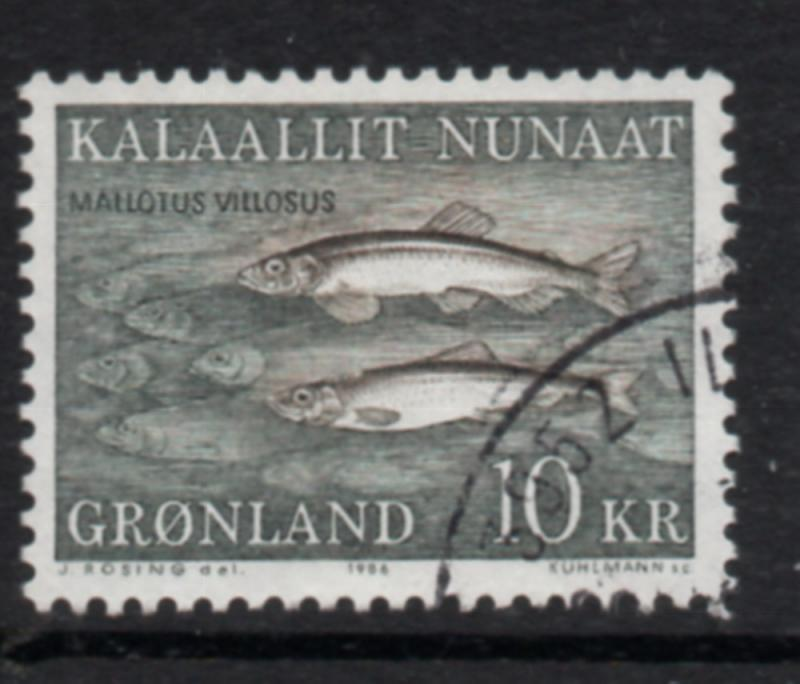 Greenland Sc 139 1986 10 kr Fish stamp used