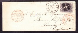 US 78 24c on Cover from Baltimore, MD to Liverpool, England SCV $400