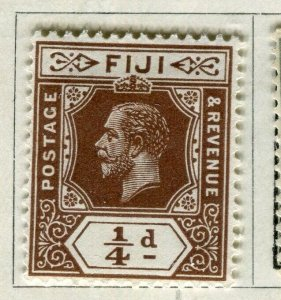 FIJI; 1912 early GV issue fine Mint hinged 1/4d. value