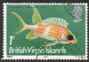 British Virgin Islands 1975 1c Long-spined squirrelfish used