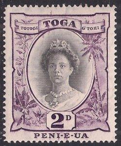 Toga Tonga 1942 - 49 KGV 2d Black & Purple MM SG 76 ( A872 )
