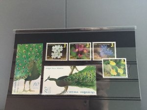 Thailand Flowers and Peacock  mint never hinged stamps  R23347