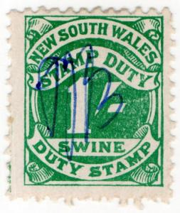 (I.B) Australia - NSW Revenue : Swine Duty 1/-