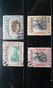 Labuan #96-99 used h192.3538