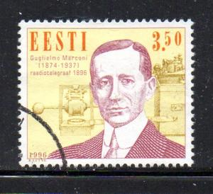 Estonia Sc 307 1996 Marconi stamp used