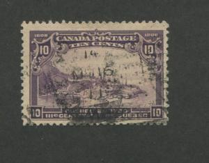 1908 Canada View of Quebec in 1700 10c Postage Stamp #101 Value $125