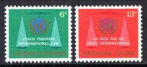 UN New York 197-198 MNH VF