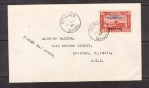 Canada #203 VF Used On FDC Regina To Chicago USA
