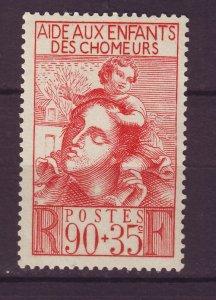 J24627 JLstamps 1939 france set of 1 mh #b84 mother child