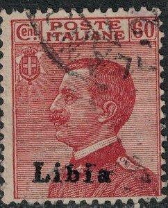 Libya 1918 SC 12 Double Surcharge
