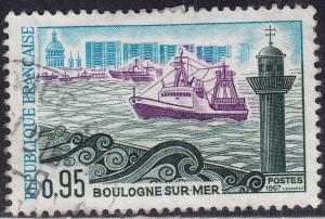 France 1189 Hinged 1967 Boulogune-sur-Mer Harbour