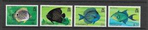 FISH - MONTSERRAT #381-4  MNH