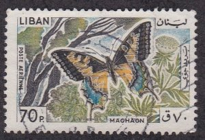 Lebanon # C431, Butterfly, Used 1/3 Cat.
