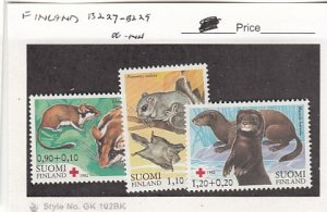 J25764  jlstamps 1982 finland set mnh #b227-9 animals all checked