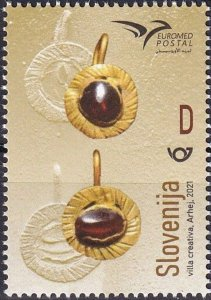 Slovenia 2021 MNH Stamps Euromed Jewelry Handicraft