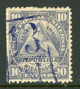 Nicaragua 1882 ABNC 10¢ w/ San Juan Del Norte Cancel VFU L773