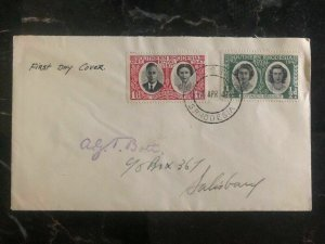 1947 SOuth Rhodesia First Day Cover FDC Royal Visit King George VI