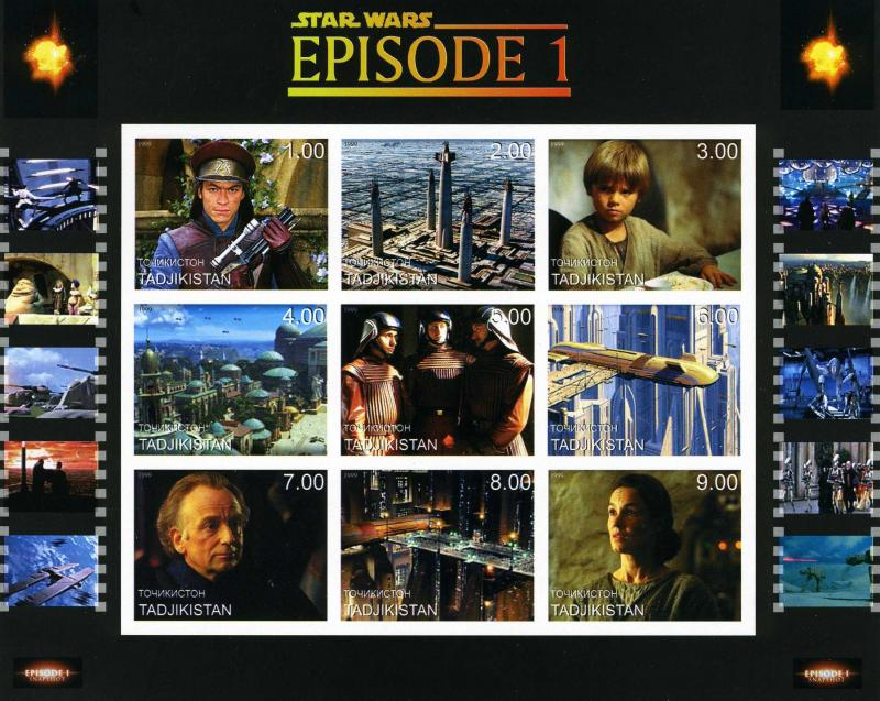Star Wars Sheet Imperforated mnh.vf