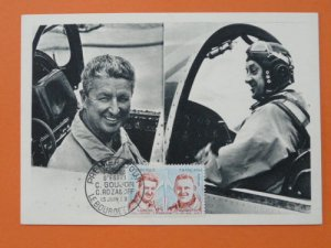 aviation pioneer test pilot Goujon Rozanoff 1959 maximum card 32638