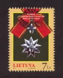 Lithuania Sc# 957 MNH Grand Cross Medal