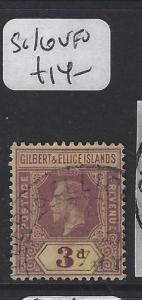 GILBERT AND ELLICE ISLANDS (P1804B)  KGV 3 D  SG 16     VFU