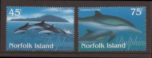 Norfolk Island scott #621-22 m/nh stock #T1507