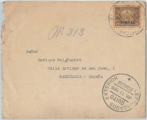 74443 - ECUADOR - POSTAL HISTORY -  REGISTERED COVER to SPAIN  1928