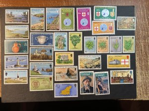 GUERNSEY # 111-140-MINT NEVER/HINGED--8 COMPLETE SETS--1974-76
