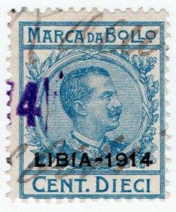 (I.B) Italy (Libya) Revenue : Marca da Bollo 10c (1914)