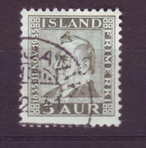 J19143 Jlstamps 1935 iceland used #195