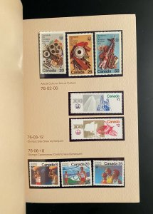 Stamps Postage Collection Canada years 1974/1979 / Album timbres complet Canada