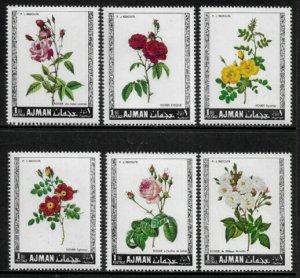 Ajman Michel #405-10 MNH Set - Roses - Flowers