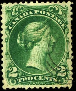 Canada #24 USED TARGET CANCEL, CREASES