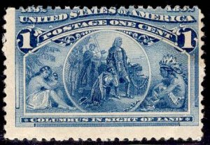 US Stamp #230 1c Columbian MINT Hinged SCV $14