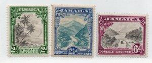 Jamaica - SG# 111 - 113 MH      /       Lot 0720500