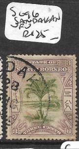 NORTH BORNEO (PP2703B)  3C TREE SG 96 SANDAKAN VFU