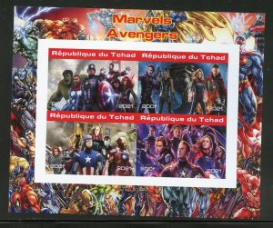 Chad 2021 Marvel's Avengers  imperforate sheet mint nh