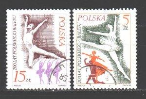 Poland. 1985. 3005-6. Ballet. USED.