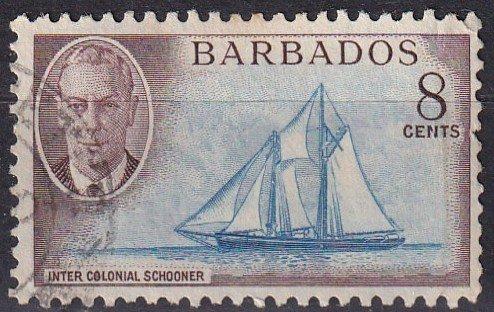 Barbados #218 F-VF  Used CV $4.25 (Z2462)