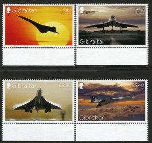 Gibraltar 2019 Concorde 50th Anniversay 4v Set Of Stamps MNH