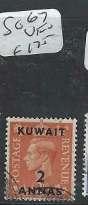 KUWAIT (P1804B)  ON GB KGVI  2A/2D  SG 67  VFU